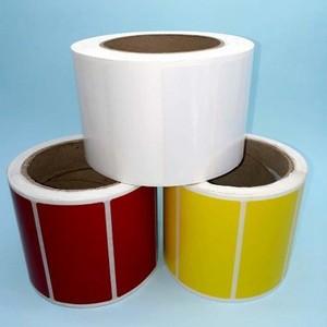 Etiquetas adesivas coloridas redondas